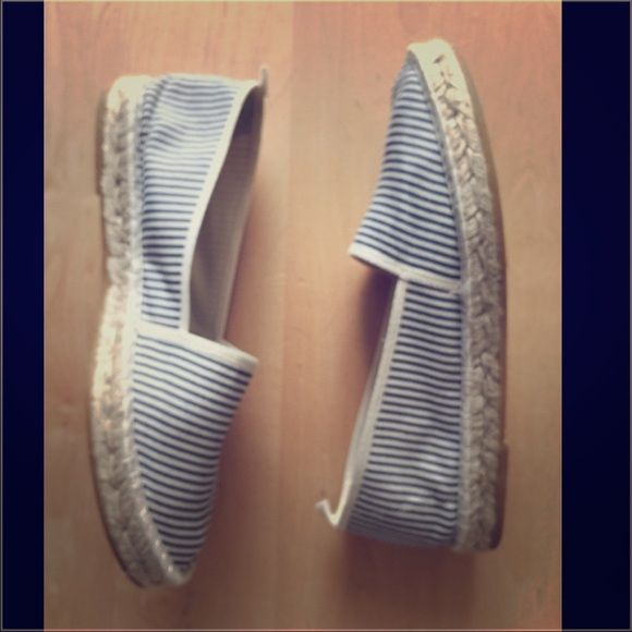 Threads brand espadrilles bluewhite made in Spain Blue and white espadrilles. Only worn in the house .. Comfy and cool .. Size 41 but I'm a 39/40 and fit fine. Made in Spain Thread Shoes