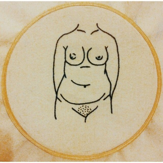 Tire seu preconceito das minhas curvas #embroidery #clubedobordado #handmade…