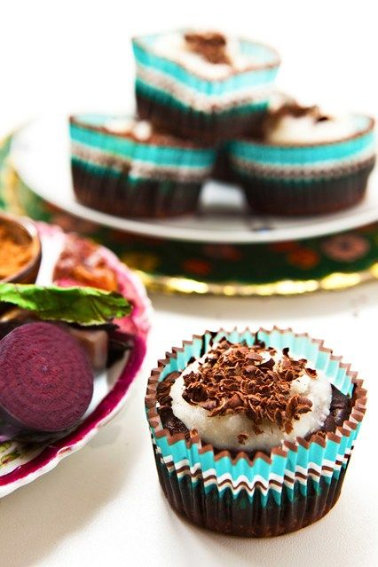 Hemsley & Hemsley Healthy Chocolate Beetroot Cupcake Recipe (Vogue.com UK)