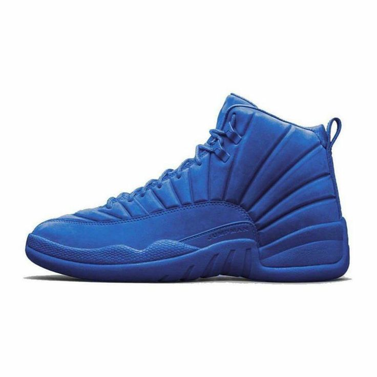 All blue Nike Air Jordan 12