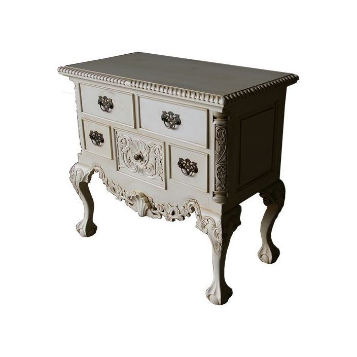 Large Lowboy Antique French Style Chest