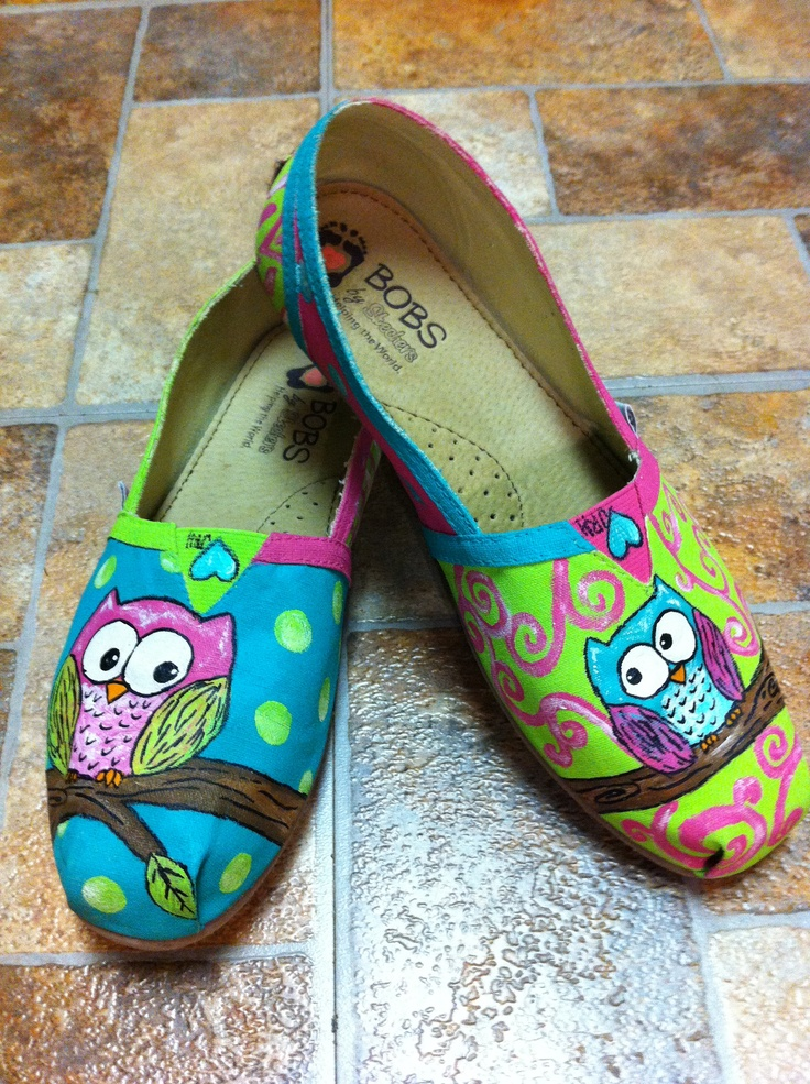 Owl shoes my daughter painted for me.  :O)