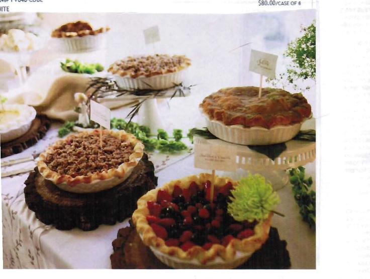 Cobblers In Ceramic Baking Dishes At Different Heights Wedding PiesWedding Food