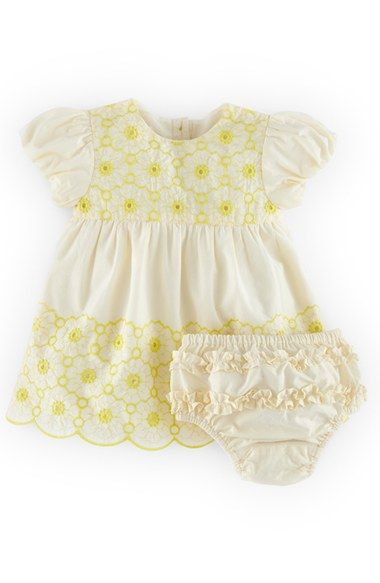 Mini Boden 'Sweet Embroidered' Cotton Dress & Bloomers (Baby Girls) available at #Nordstrom