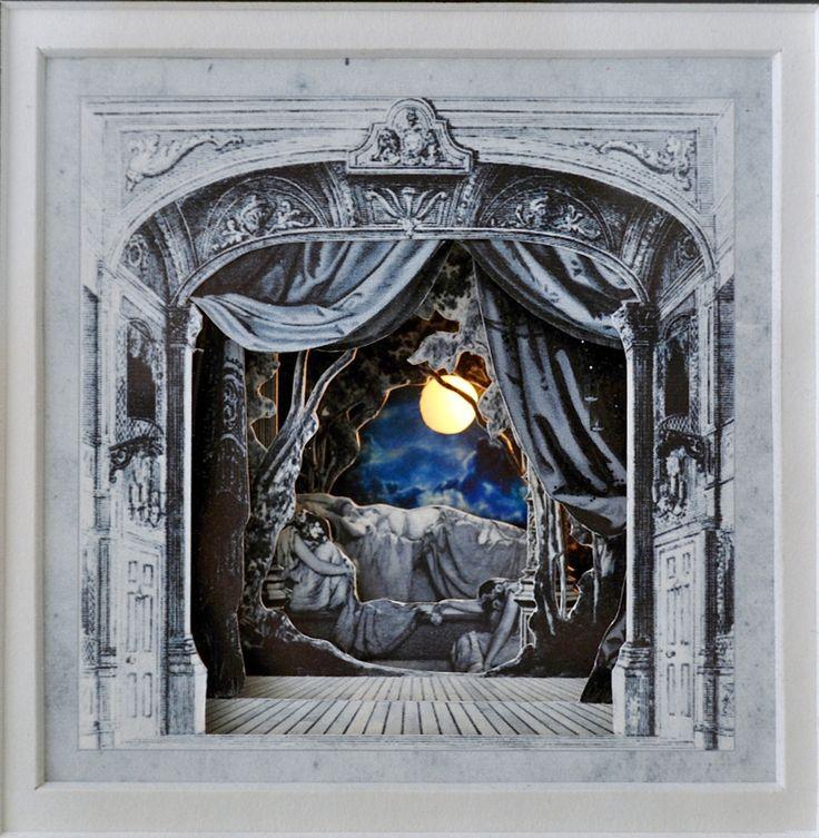 Light up 3d paper cut theatre starring Sleeping Beauty