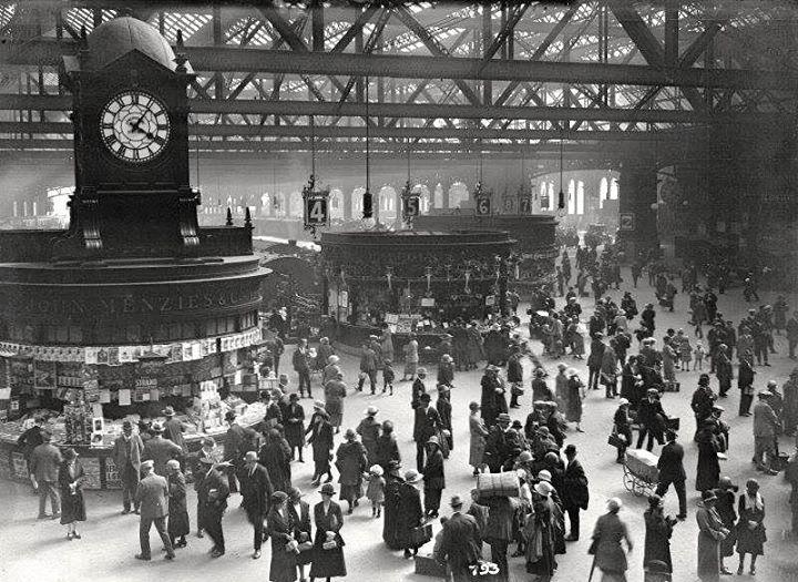 Glasgow Central Station.