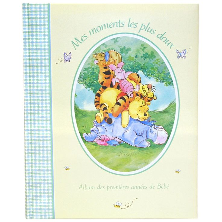 """if i could find this in English i'd buy it, em has one and would be nice for new baby to have a matching one Winnie the Pooh - Record Book - French - Havoc Gifts - Babies""""R""""Us"""