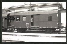 Foto ca. 1962 Bahnof Sopron Gysév Waggon Typ Dnz 166 Eisenbahn-Ungarn MAV Magyar