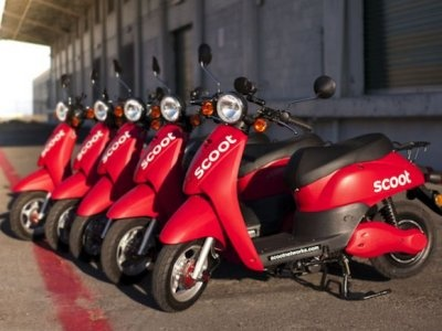Scoot Networks - What it is: Shared, electric Vespa-style scooters that are powered via smartphones.