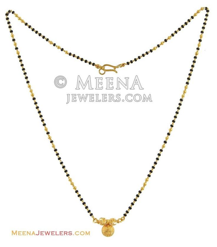 Indian Gold Mangalsutra (19 Inches) ( MangalSutras )