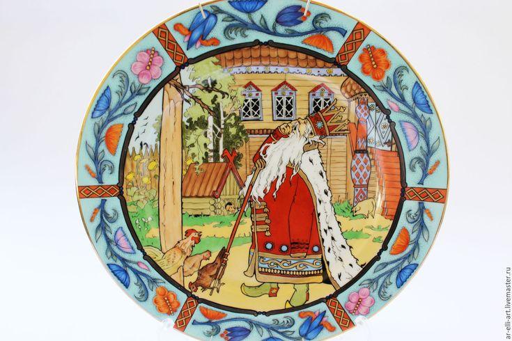 """Купить Фарфоровая коллекционная тарелка """"Царь"""" - комбинированный, фарфоровая тарелка, коллекционная тарелка, коллекционная посуда"""