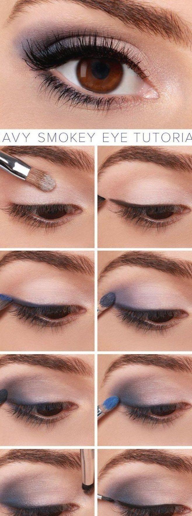 geschminkte augen abend makeup f r braune augen blaue