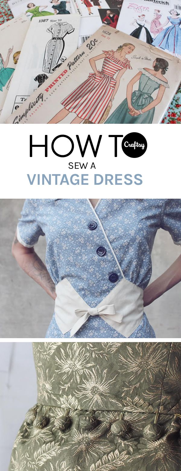 Vintage dresses are timelessly beautiful and classic. Get the tips to sew your own on the Craftsy blog.