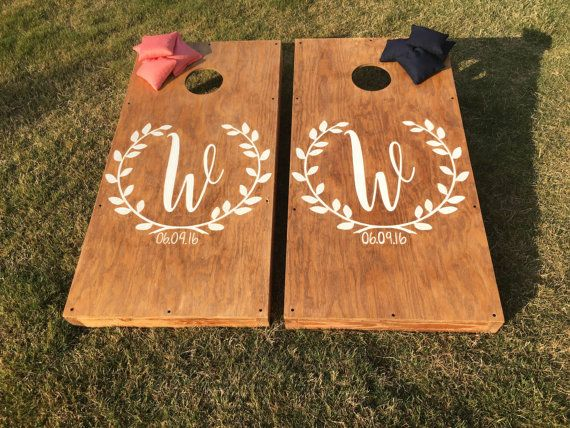 Custom Wedding Cornhole Boards