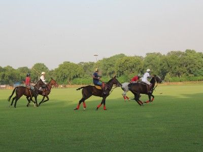 Polo Players of the Jaipur Polo Club, Rajasthan, India