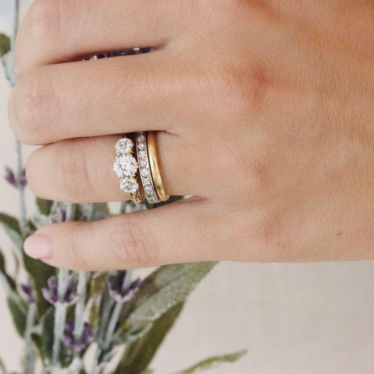 16 best Three stone ring ideas images on Pinterest Diamond band