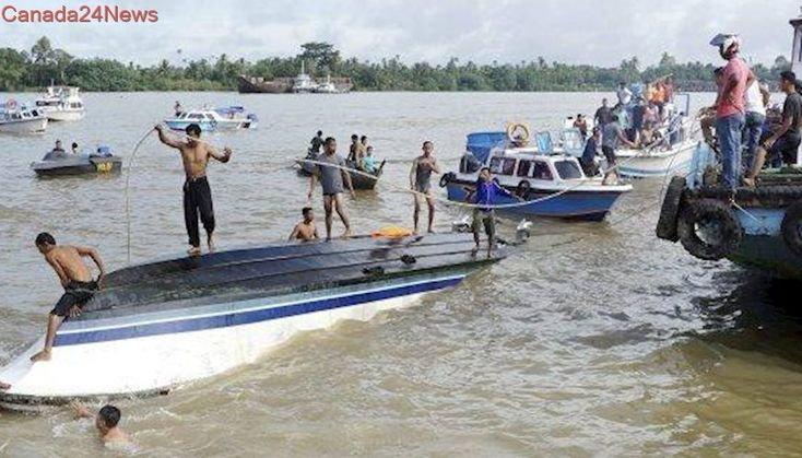 8 dead after boat capsizes off Indonesian part of Borneo, 42 survivors found
