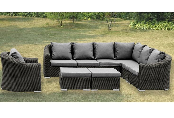 Model NO.:MD-116  1*Left/right sofa:70*80*70cm  3*Armless sofa:60*80*70cm  1*Corner sofa:80*80*70cm  1*table:90*50*32cm  Material:PE RATTAN+ALU FRAME  FOB Price:$610  MOQ:5 Sets