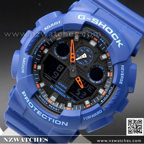 Casio G-Shock Bi-Color Analog Digital 200M Sport Watch GA-100L-2A, GA100L