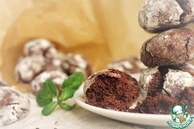 Шоколадно-мятное печенье с трещинками