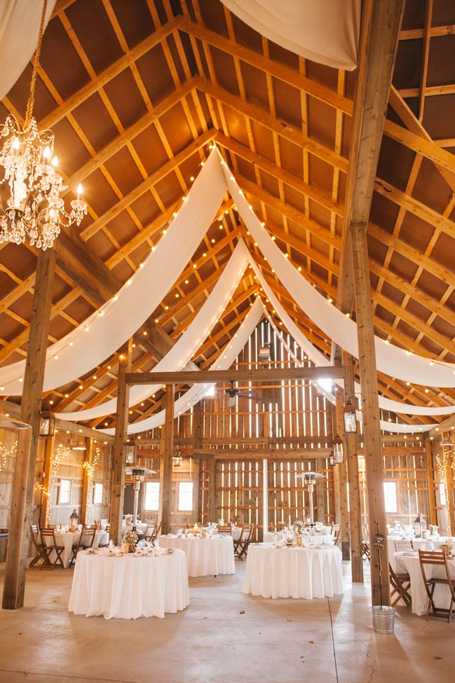 Gorgeous barn wedding reception draping | Amanda Adams Photography | see more at http://fabyoubliss.com