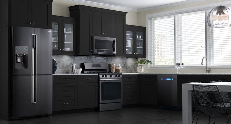 These samsung black stainless steel appliances look for Dream kitchen appliances