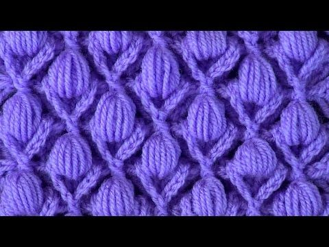 The relief pattern with puff stitchs - YouTube