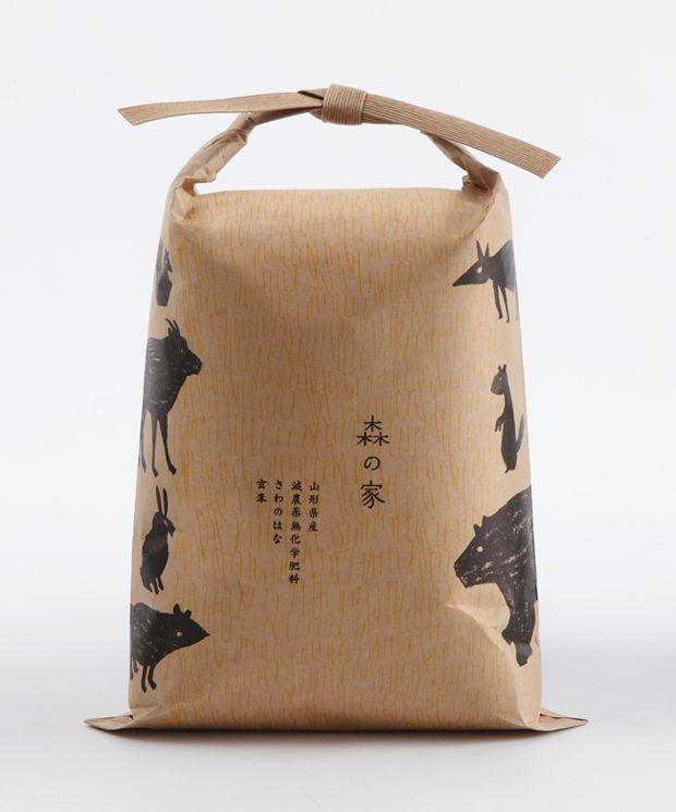 Rice Package, Yamagata, Japan ~Repinned Via Dag Klingstedt