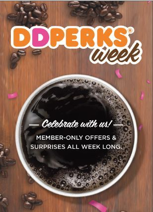 Calling all DD Perks® Rewards program members! As a big thank you to our five million members, we are offering you daily deals and prizes in our first ever Perks Week, running November 14-18.