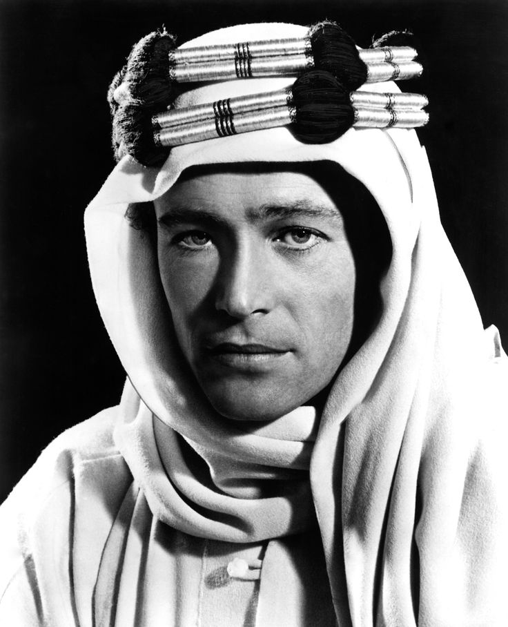 Peter O'Toole in David Lean's Lawrence of Arabia (1962).