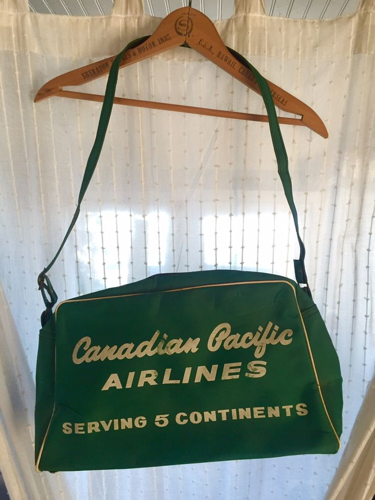 A personal favorite from my Etsy shop https://www.etsy.com/listing/470202741/vintage-canadian-pacific-airlines-bag