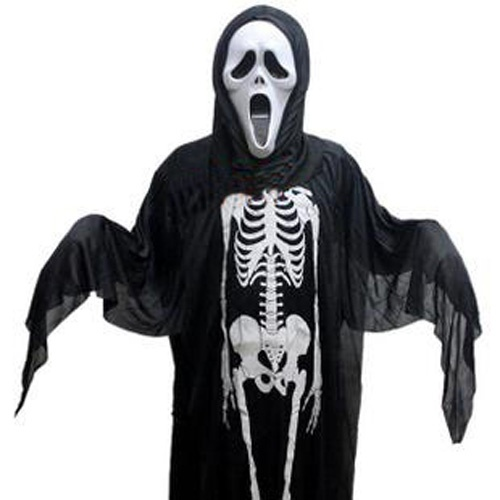 Funny Halloween Skeleton Suit Dress Cloth Ghost plus Outcrying Demon Halloween Mask - http://ucables.com/product/funny-halloween-skeleton-suit-dress-cloth-ghost-plus-outcrying-demon-halloween-mask/