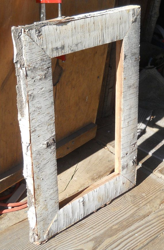 Birch Bark picture frame by ELKHORNMOUNTAIN on Etsy, $80.00
