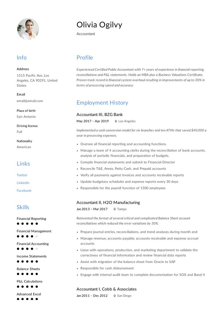 17+ accounting resume examples 2021 in 2020 Accountant