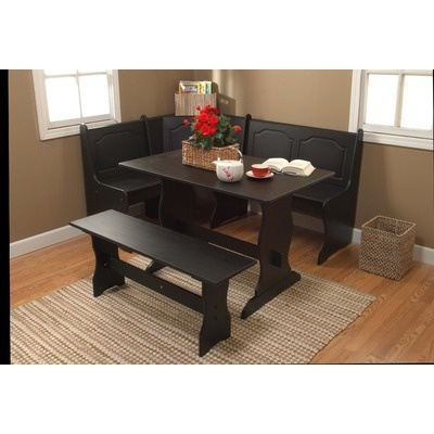 TMS Nook 3 Piece Dining Set In Black