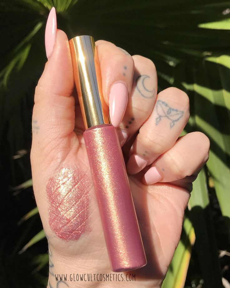 Rose gold metallic lip gloss from www.glowcultcosmetics.com