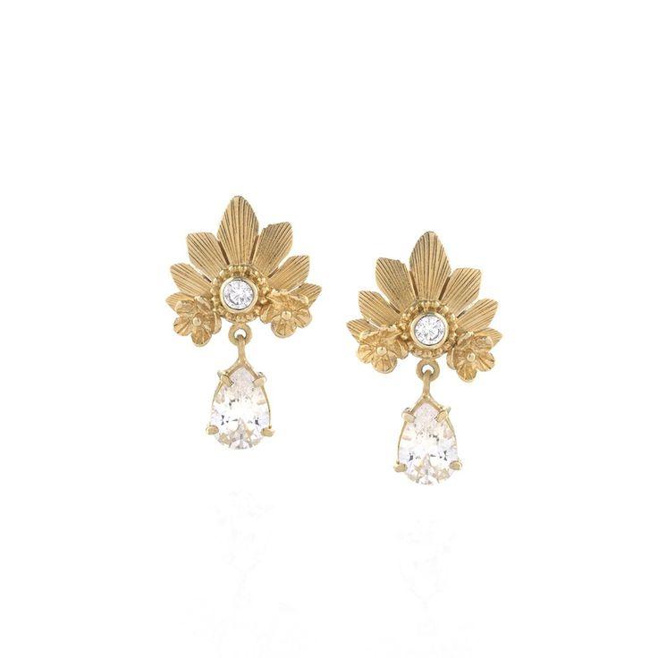 Tulola Mahkota Studs Gold Dip http://www.shoptulola.com/women/new-designs/mahkota-studs.html #SophieParis