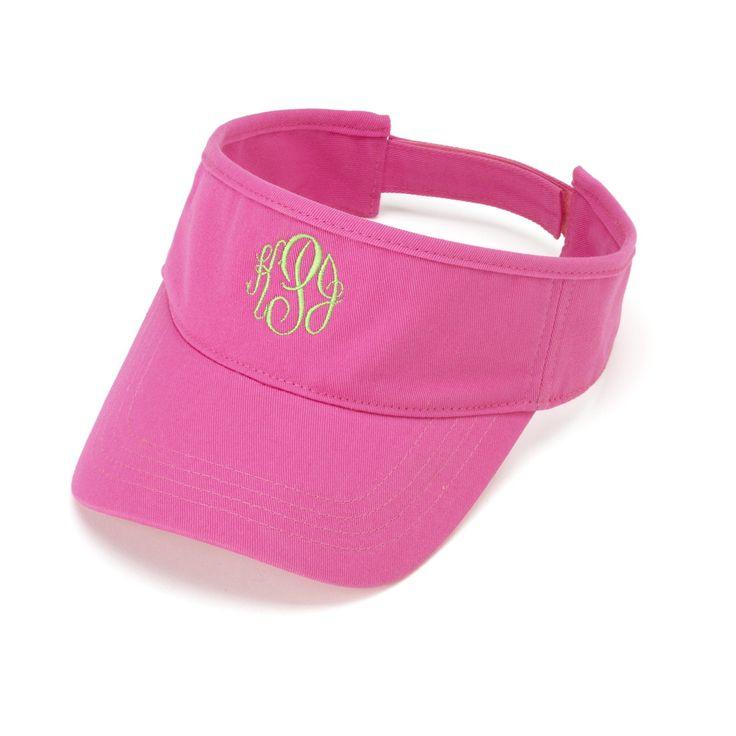 Hot Pink Personalized Womens VISOR HAT Baseball Cap Beach Pool Sports