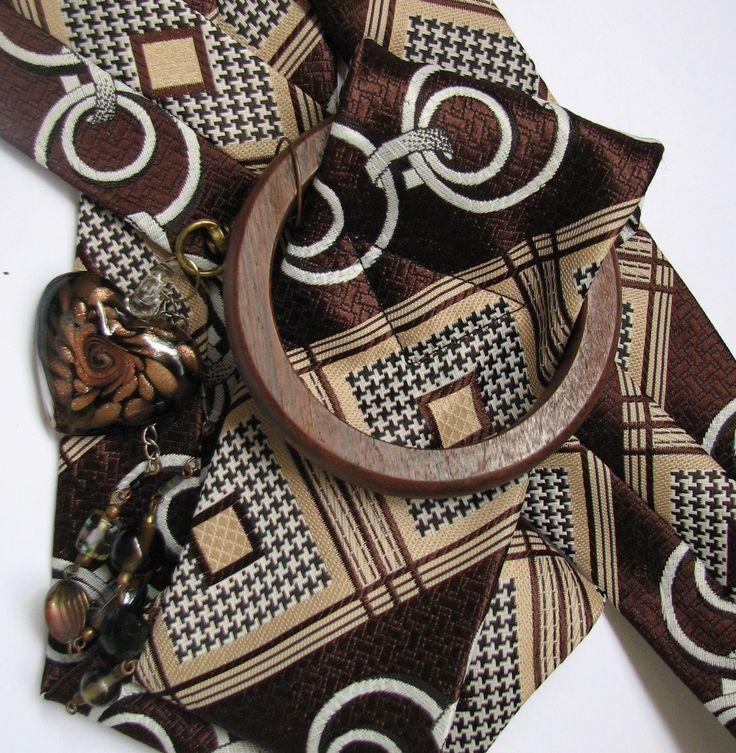 Earthy brown and cream hip belt | Nu4U Fashion and Home Decor