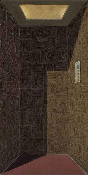 Domenico Gnoli, Fahrstuhl (L'Ascenseur) (The Lift)