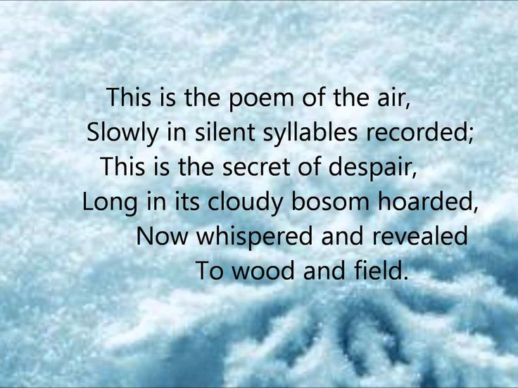 """Snow Flakes"" by Henry Wadsworth Longfellow read by Farnham Town Crier"