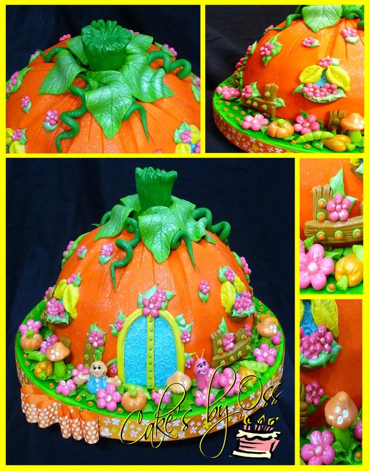Casa calabaza este pastel en forma de una media calabaza - Cercas para jardin ...