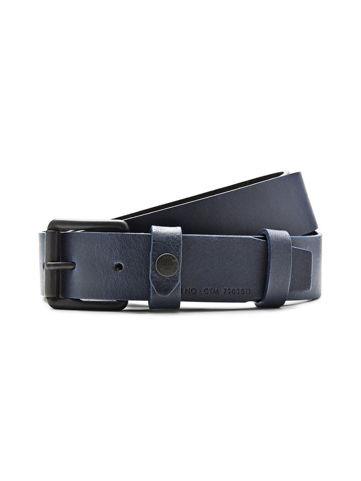 SIMPLE LEATHER BELT, Dress Blues