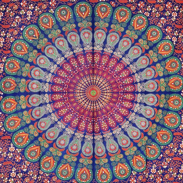 144cm Round Mandala Beach Towel Bohemia Printed Summer Swimming Towel Wall Hanging Tapestry Throw Blanket Yoga Mat Home Textiles