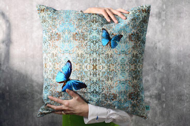 Morpho Velvet Cushion