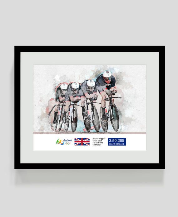 Olympics 2016 Print  Cycling Team Pursuit  by AdamPalethorpe
