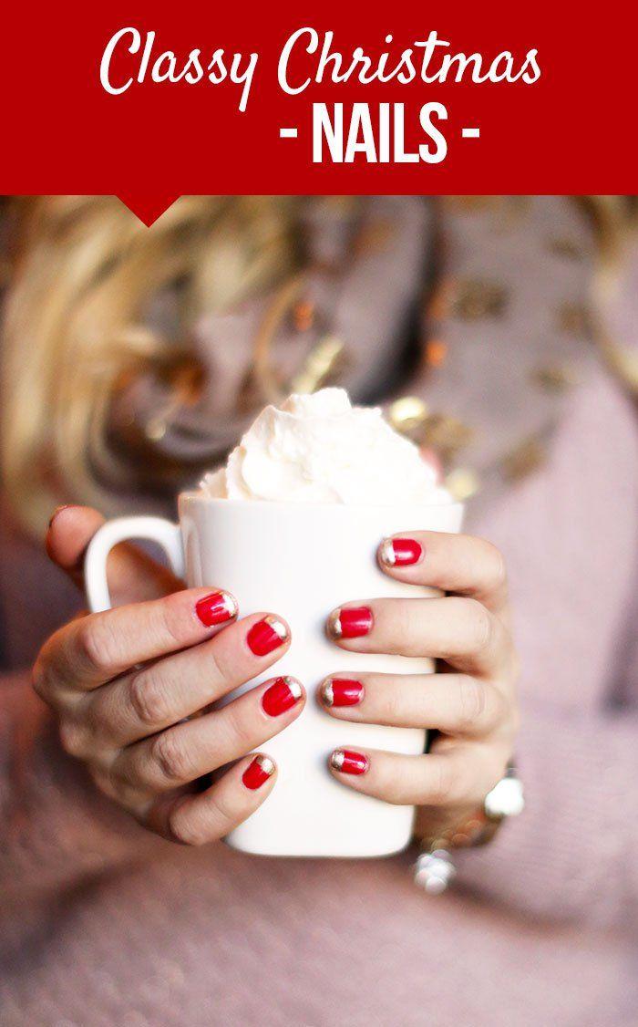 classy christmas nails beauty
