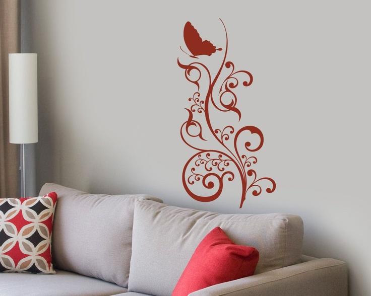 Sticker decorativ Floare pentru Fluture