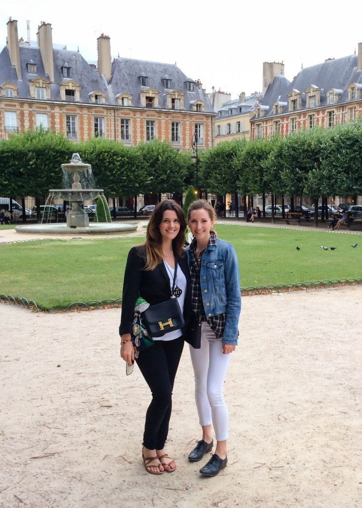 Brooke and I together inside Place de Vosges.