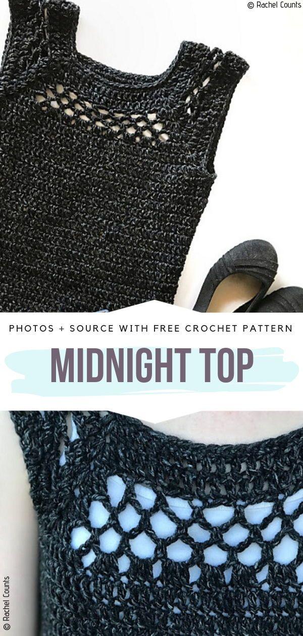 Crochet Summer Tops Padrões Livres